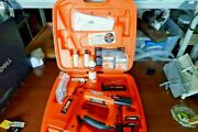 Paslode Trim Master 9011000 18ga. Cordless Finish Nailer W/ Case And Many Extras
