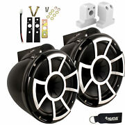 Wet Sounds For Supra Fxone Rev 10 X Mount Tower Speakers Black With Brackets