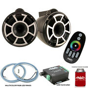 Wet Sounds Rev10b-x X-mount Tower Speakers With Rgb Led Speaker Rings