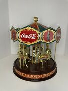Coca Cola Company 1997 Collectors Edition Franklin Mint Musical Carousel Works
