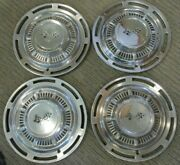 Four 1959 Chevy Impala / Bel Air Crossed Flags Chevrolet 14 Hubcaps