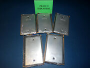 Lot Of 5 Steel City Thomas And Betts Outdoor Single Gang Blank Cover Sp41-g Sp41g