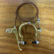 Vintage Nos Bmx Dia Compe 1080 Rear Brake With Lever Anodized Gold 1983
