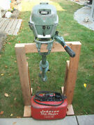 Johnson Outboard 5 1/2 Hp W/tank Was Running 2 Years Ago As/is Vintage