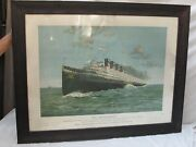 Antique Seeandbee Steamship Advertising Poster The Cleveland Buffalo Transit Co.