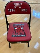 1996 Chicago Bulls Game Used Players Court Side Chair In Perfect Condition