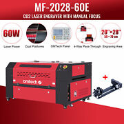 Omtech 60w 20x28 In. Workbed Co2 Laser Cutter Marker Engraver With Rotary Axis C