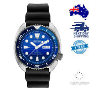 Seiko Prospex Srpc91 Turtle Save The Ocean Blue Wave Dial Divers Limited Watch