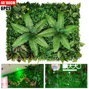 24x16 Artificial Boxwood Hedge Panel Plastic Greenery For Inandoutdoor 6pcs