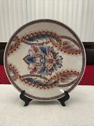 Wall Decor Plates.hand Panted 13 Inch