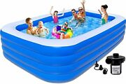 Swimming Pools Above Ground Inflatable - 10ft Swimming Pool For Family 120x72...