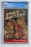 Space Busters 1 Ziff-davis Cgc 6.5 Classic Sci-fi Painted Cover