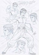 Shang-chi Master Of Kung Fu Original Art By Al Rio Heroes For Hire A3 2006