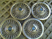 4 Vintage 1965 1966 Ford Mustang Galaxie Spinner Hubcaps Wheel Covers 15 Inch