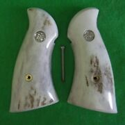 Sandw Smith And Wesson Stag Grips For N Frame Square Butt Excellent Quality
