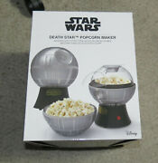 Star Wars Death Star Shaped Popcorn Maker Air Popper With Bowl New Box Christmas