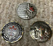 Armor Of God Challenge Coin Lot Of 3 Ephesians 610-18 Christian Soldier
