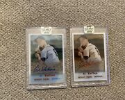 Al Kaline Topps Clearly Authentic Autograph Parallel Set 2018 1/1 And 68/99 -rare