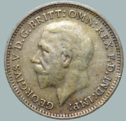 1933 Great Britain Uk Coin Silver Ag Coinage Rare 3 Pence Km831 Uk717