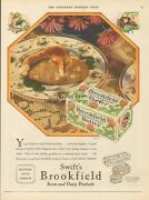 1929 Swift's Brookfield Butter Farm And Dairy Products Vintage Kitchen Decor Ad