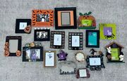 Mixed Lot 18 Collectible Halloween Picture Photo Frames Ghost Witch Pumpkin