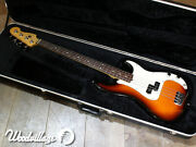 Fender Precision 4 Strings Dot Inlays Electric Bass Guitar With Hard Case