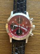 Tutima Chronograph Limited Edition Automatic Red Black Panda Dial Menand039s Watch