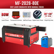 Omtech 80w 20x28 Co2 Laser Engraver Marker Cutter With Cw3000 Water Chiller