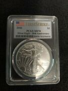 2016 American Silver Eagle Pcgs Ms70 30th Anniversary First Strike
