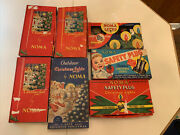 Lot 7 Vintage Noma Christmas Lights In Box6 Strands Working