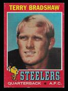 1971 Topps Football Card 156 Terry Bradshaw Pittsburgh Steelers Rc Rookie Vgex+