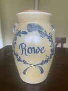 Historic Collection 1997 Rowe Pottery Butter Churn 2 With Signature