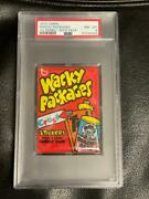Rare 1973 Topps Wacky Packages 1st Series Unopened Wax Pack Psa 8 Nm/mt