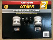 New First Alert Smoke And Fire Alarms 2 Pack Atom 761090