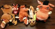 Lot 5 Disney Store Plush Timon And Pumba The Warthog From Lion King With Insects