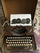 Royal Shades Of Brown Vintage 1930's Royal Type S Portable Typewriter With Case