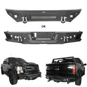 Fit Ford F-150 09-14 Textured Steel Front Bumper W/ Led Light Bar Or Rear Bumper