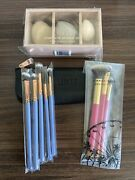 Luxie Beauty Collection Lot Makeup Brushes Brush Sets Bag And Sponge Set Vegan New