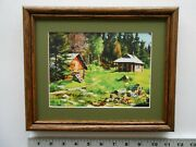 Aiden Lassell Ripley The Guides' Camp And Icehouse 8x10 Framed 3.0 358