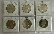 1974 And 1981 Pds Kennedy Half Dollar Bu Uncirculated Lot Of 6 Coins