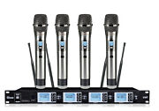 4 Channel Pro Uhf 4 Wireless Cordless Microphone Mic System For Shure Wireless