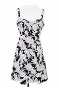 Country Road Size 16 Black And White Dress Summer Floral Australian Designer