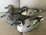 1967 Woodstream Duck Decoys Weights Vintage Pintail Set Of 4 D-9-r Victor Hunt B