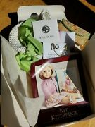 American Girl Doll Kitand039s Meet Accessories Crocheted Hat Hanky Shoes Necklace
