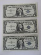 Lot Of 3 1 Silver Certificate Uncirculated 1957/1957a/1957b 11