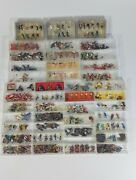 Preiser And Merten Ho And N Scale Figures Large Lot Of 40+ Containers Various