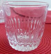 Vintage 8 Oz Crystal Clear Tumbler 6 Glasses Weighted Bottom Pressed Glass Euc