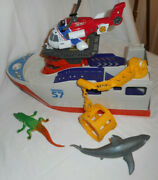 Matchbox Mission Marine Rescue Shark Boat Bfn57 Mattel 2013 With Accessories