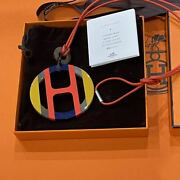 Hermes H Equip Buffalo Horn Multicolor Necklace With Box Shipped From Japan