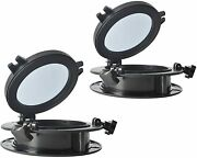 Pair Of Boat Yacht Round Opening Portlight Porthole 8 Replacement Window Black